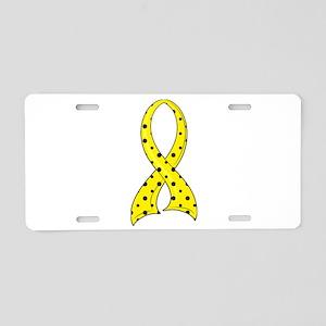 Spina Bifida PolkaDotRibbon Aluminum License Plate