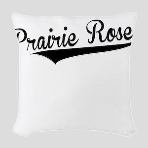 Prairie Rose, Retro, Woven Throw Pillow