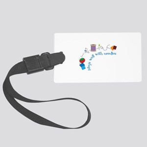 Plays well With Needles Luggage Tag