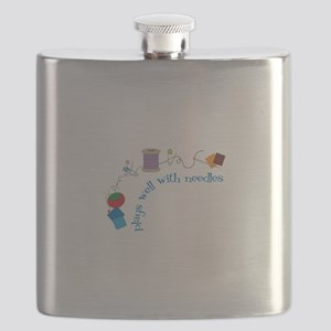 Plays well With Needles Flask