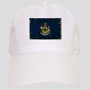 Maine State Flag VINTAGE Baseball Cap