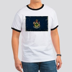 Maine State Flag VINTAGE T-Shirt