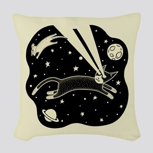 Astro Cat & Mouse Woven Throw Pillow