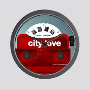 city love dwntn LA view master Wall Clock