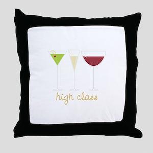 high class Throw Pillow