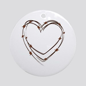 Barbed Wire Heart Ornament (Round)