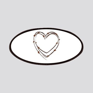 Barbed Wire Heart Patches