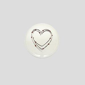Barbed Wire Heart Mini Button