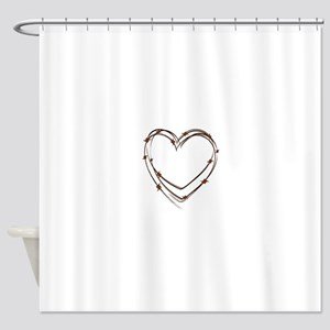 Barbed Wire Heart Shower Curtain