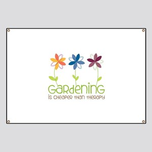 gardening is cheaper than therapy Banner