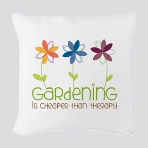 gardening is cheaper than therapy Woven Throw Pill