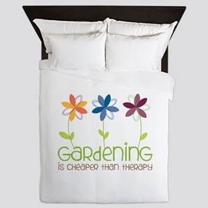 gardening is cheaper than therapy Queen Duvet