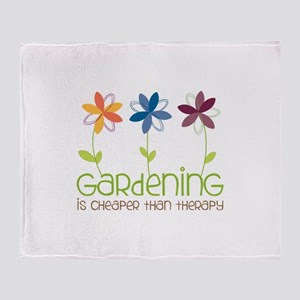 gardening is cheaper than therapy Throw Blanket