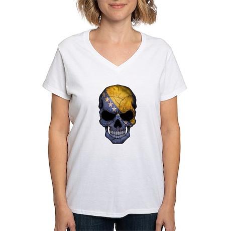 Bosnia - Herzegovina Flag Skull T-Shirt