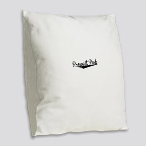 Prospect Park, Retro, Burlap Throw Pillow