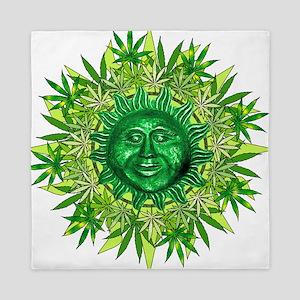 Marijuana Sunshine Queen Duvet
