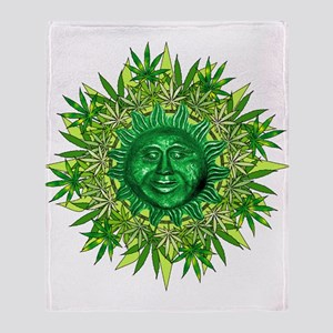 Marijuana Sunshine Throw Blanket