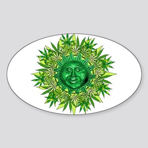 Marijuana Sunshine Sticker (Oval)
