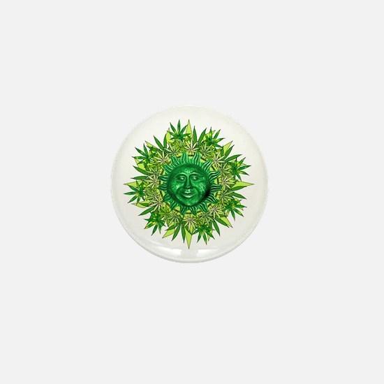 Marijuana Sunshine Mini Button