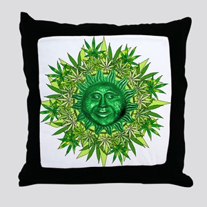 Marijuana Sunshine Throw Pillow
