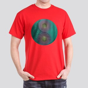 Yin Yang Tao Optic Rainbow Dark T-Shirt