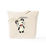 I hate vegetables Panda Tote Bag