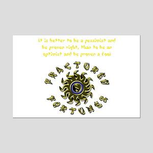 Pessimist (Yellow) Mini Poster Print