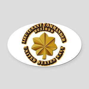 Navy - Lieutenant - O-3 - w Text Oval Car Magnet
