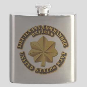 Navy - Lieutenant - O-3 - w Text Flask