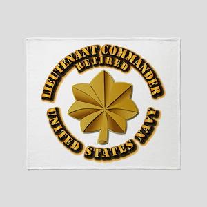 Navy - Lieutenant - O-3 - w Text Throw Blanket