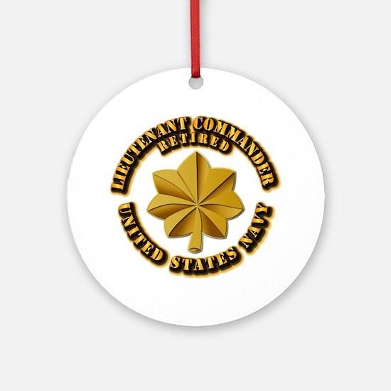Navy - Lieutenant - O-3 - w Text Ornament (Round)