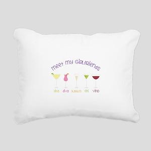 meet my GiRLfRiends Rectangular Canvas Pillow