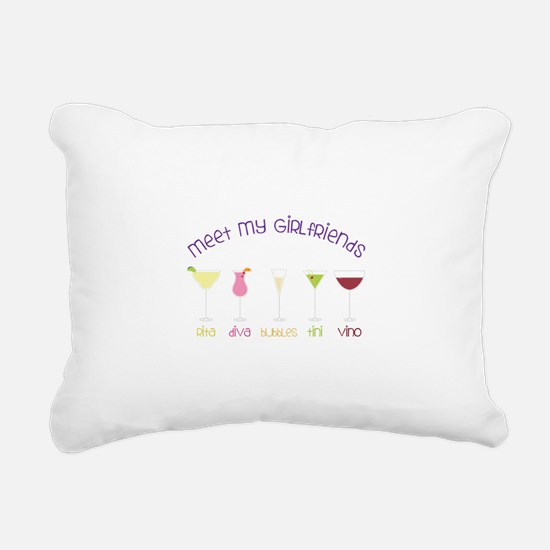meet my GiRLfRiends Rectangular Canvas Pillow