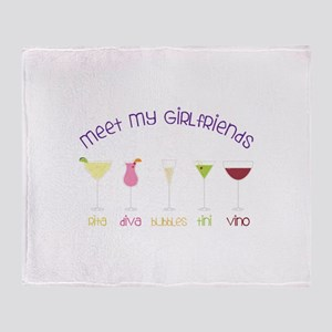 meet my GiRLfRiends Throw Blanket