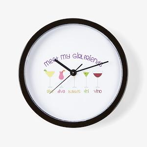 meet my GiRLfRiends Wall Clock