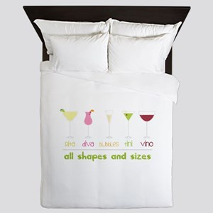 all shapes and sizes Queen Duvet