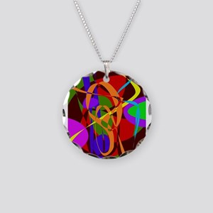 Irregular Abstract Forms and Lines Necklace
