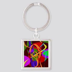 Irregular Abstract Forms and Lines Keychains