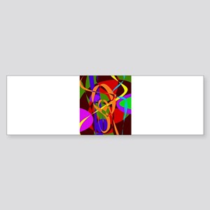Irregular Abstract Forms and Lines Bumper Sticker