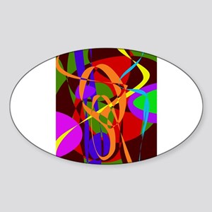 Irregular Abstract Forms and Lines Sticker