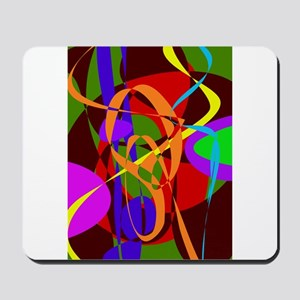 Irregular Abstract Forms and Lines Mousepad
