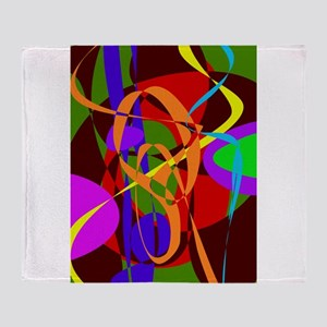 Irregular Abstract Forms and Lines Throw Blanket