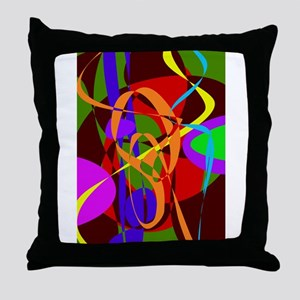 Irregular Abstract Forms and Lines Throw Pillow