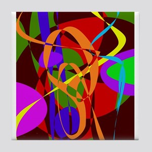 Irregular Abstract Forms and Lines Tile Coaster