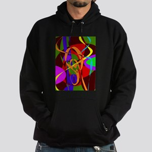Irregular Abstract Forms and Lines Hoodie