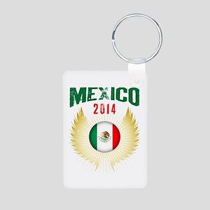 Soccer Mexico 2014 Wings Aluminum Photo Keychain