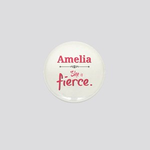 Amelia is fierce Mini Button