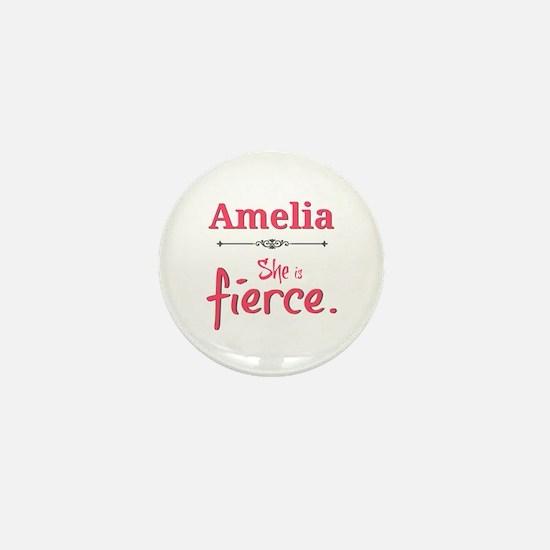 Amelia is fierce Mini Button