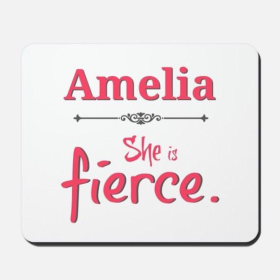 Amelia is fierce Mousepad