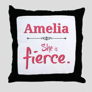 Amelia is fierce Throw Pillow